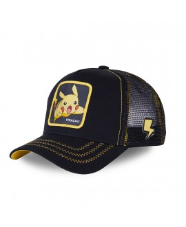 Trucker Cap Capslab Pokemon Pikachu Black