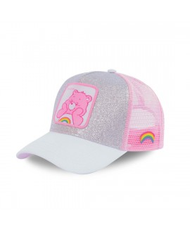 Casquette Paillettes Capslab Care Bears TouCâlin Gris