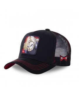 Trucker Cap Capslab Dragon Ball Z C-18 Black