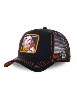 Trucker Cap Capslab Dragon Ball Z Krillin Black