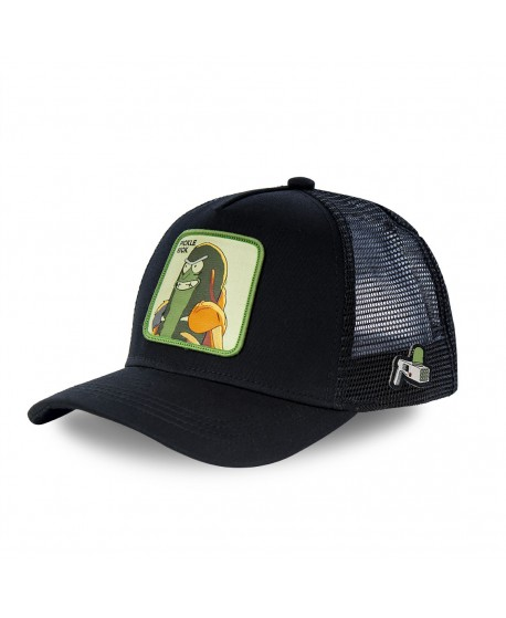Capslab Rick and Morty Pickle Rick Black Cap