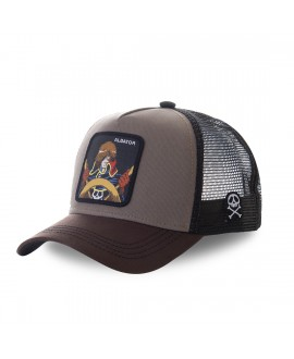 Casquette filet Albator Captain Marron