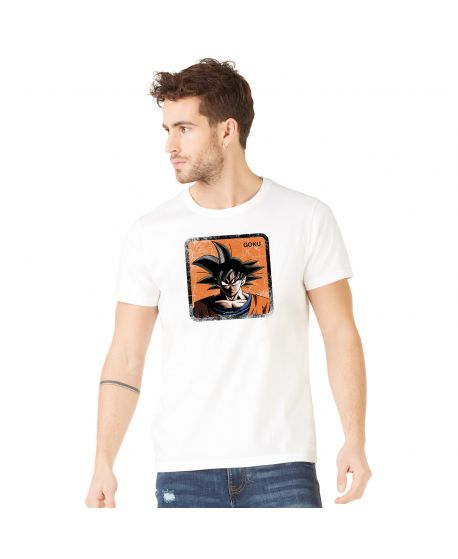 Men's cotton T-Shirt Dragon Ball Z Goku White