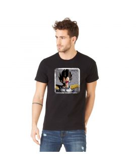 Men's cotton T-Shirt Dragon Ball Z Vegeta Black