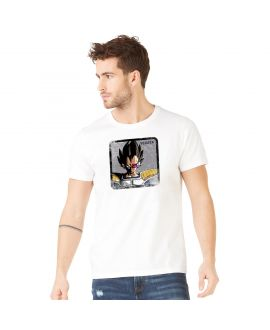 Men's cotton T-Shirt Dragon Ball Z Vegeta White