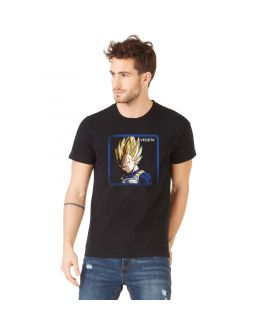Men's cotton T-Shirt Dragon Ball Z Vegeta Saiyan Black