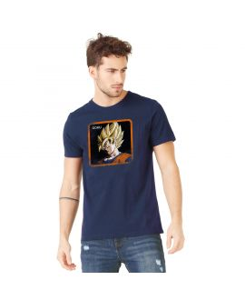 T-Shirt homme Dragon Ball Z Goku Bleu
