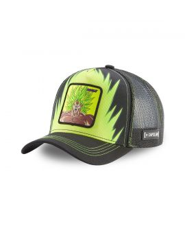 Men's Capslab Dragon Ball Broly Black and Green Cap