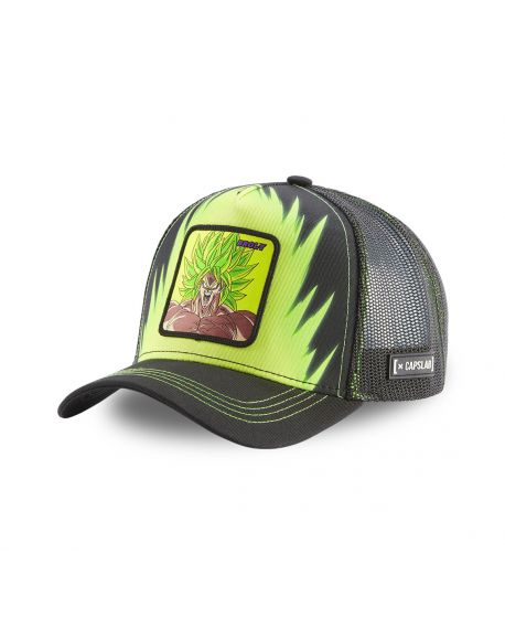 Dragon Ball Broly Black and Green Cap