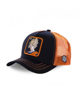 Casquette Capslab Dragon Ball Z Goku Saiyen Noir et Orange