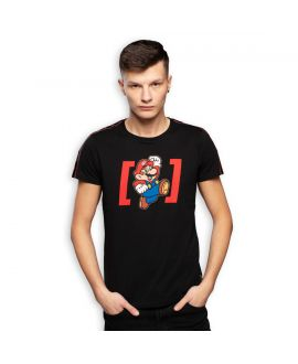 Men's Super Mario Black Tee Shirt