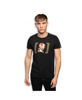 Men's Super Mario Road Black Tee Shirt