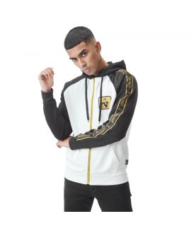 Sweat Zippé homme Monopoly Rich Blanc