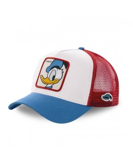 Casquette Capslab Disney Donald Blanc filet Rouge