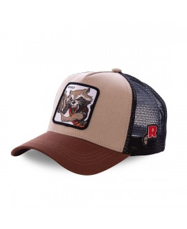Casquette Capslab Marvel Rocket Marron