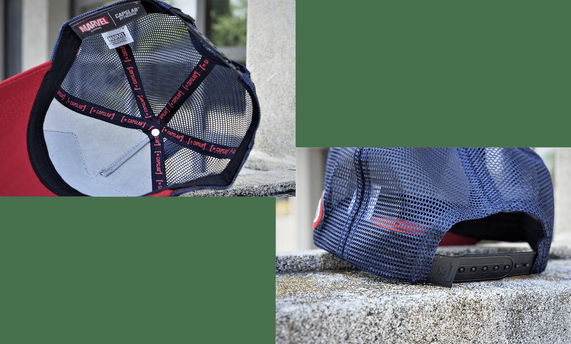 détails casquettes capslab